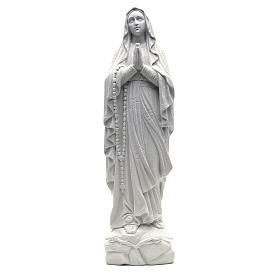 Our Lady of Lourdes statue in reconstituted Carrara marble, 50cm s1