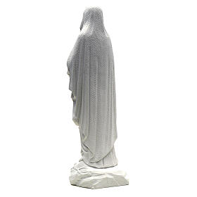 Our Lady of Lourdes statue in composite Carrara marble, 19.5 inc s3
