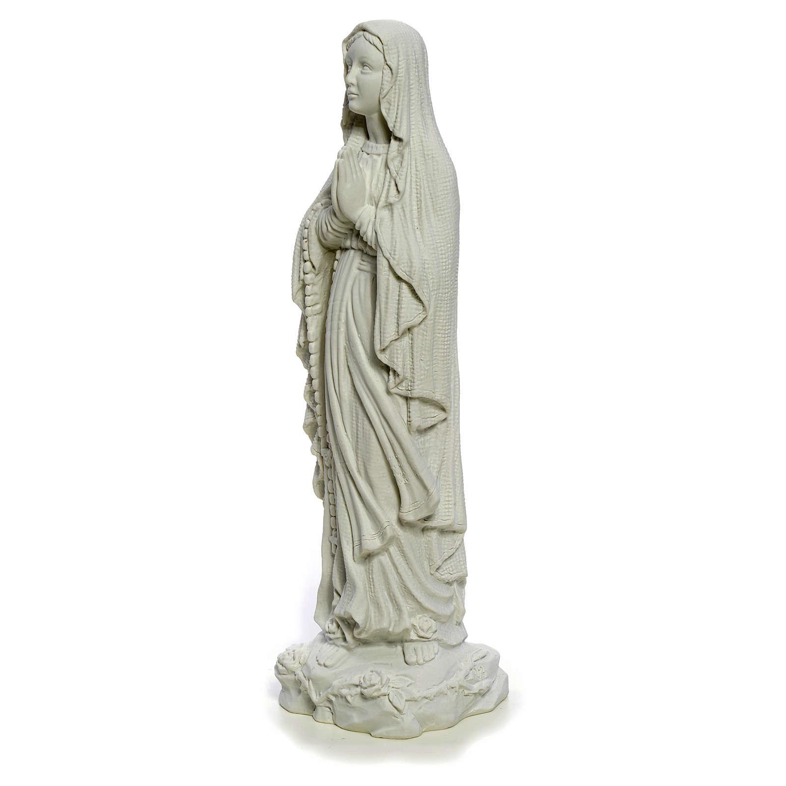 Nuestra Señora de Lourdes 40cm mármol blanco 4