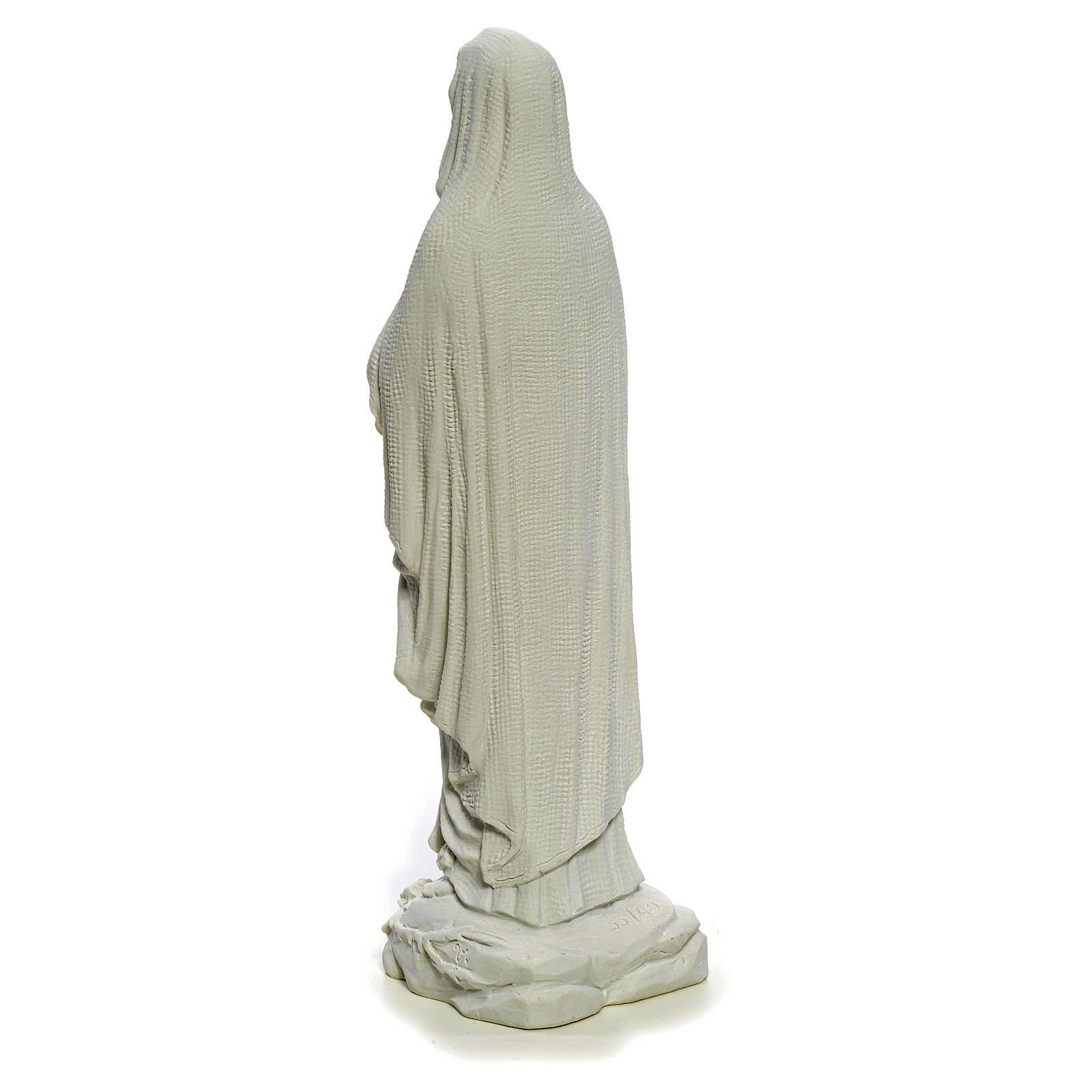 Madonna di Lourdes 40 cm, statua marmo bianco 4