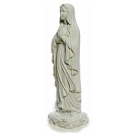 Madonna di Lourdes 40 cm, statua marmo bianco s6