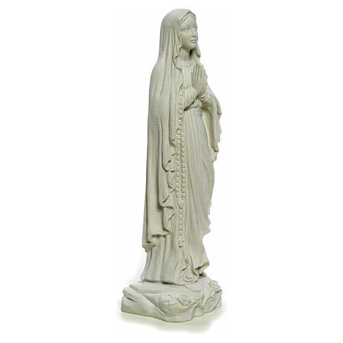 Madonna di Lourdes 40 cm, statua marmo bianco 8