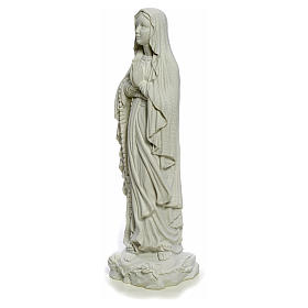 Our Lady of Lourdes, 40cm statue in reconstituted Carrara marble s6