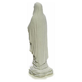 Our Lady of Lourdes, 40cm statue in reconstituted Carrara marble s7