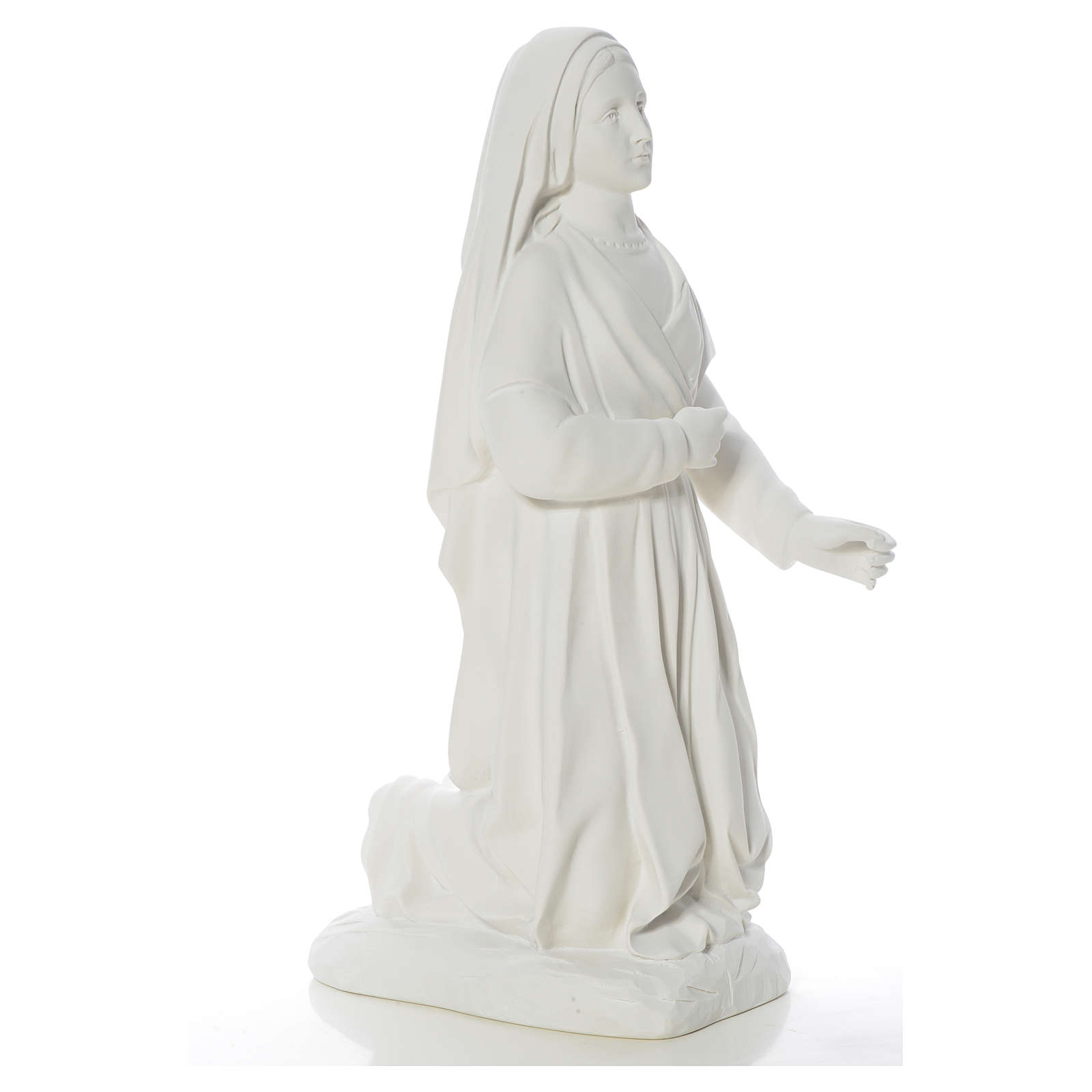 Saint Bernadette statue in reconstituted carrara marble, 63 cm 4