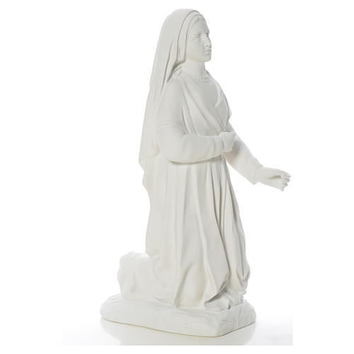 Saint Bernadette statue in reconstituted carrara marble, 63 cm 8