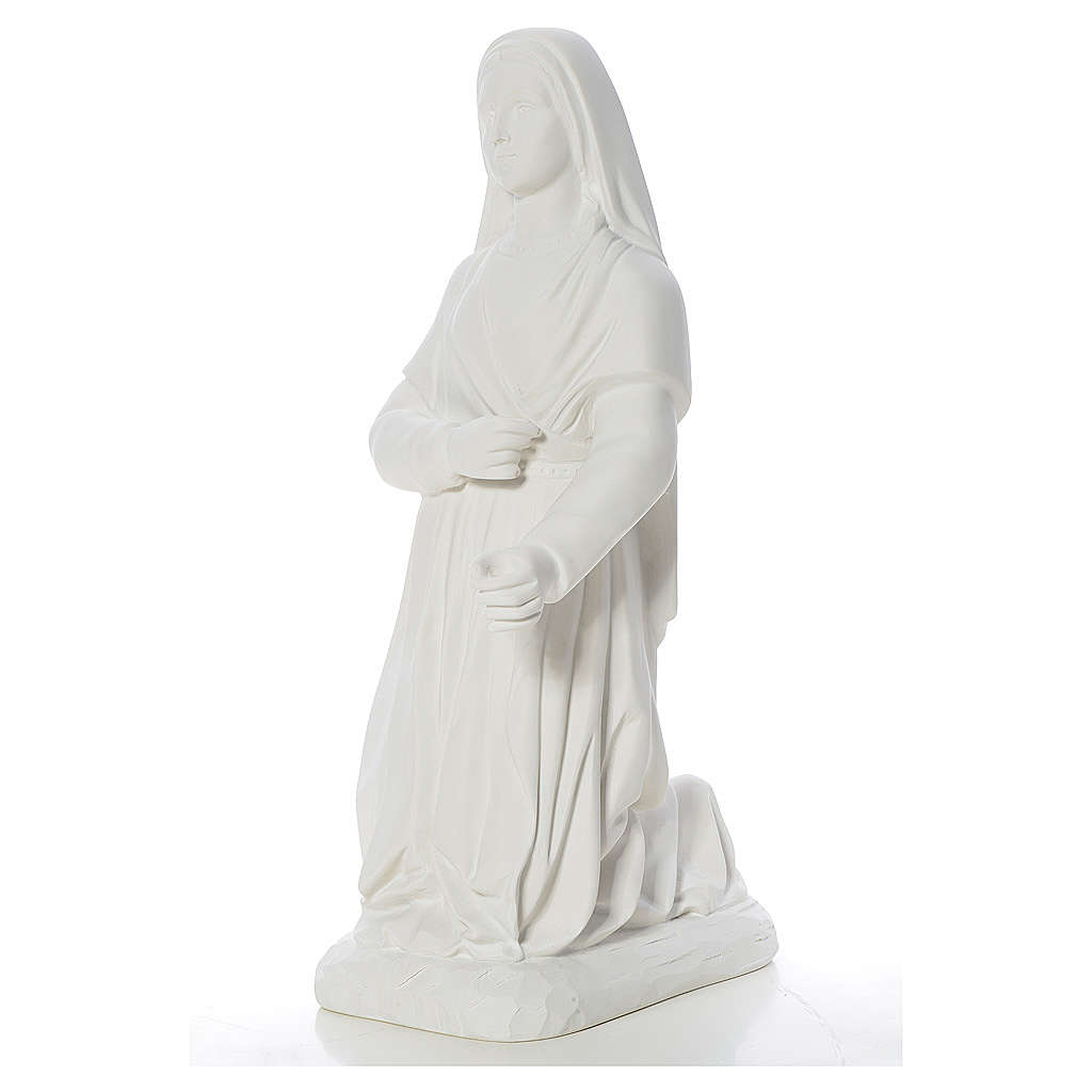 Statua Santa Bernadette 63 cm marmo bianco 4