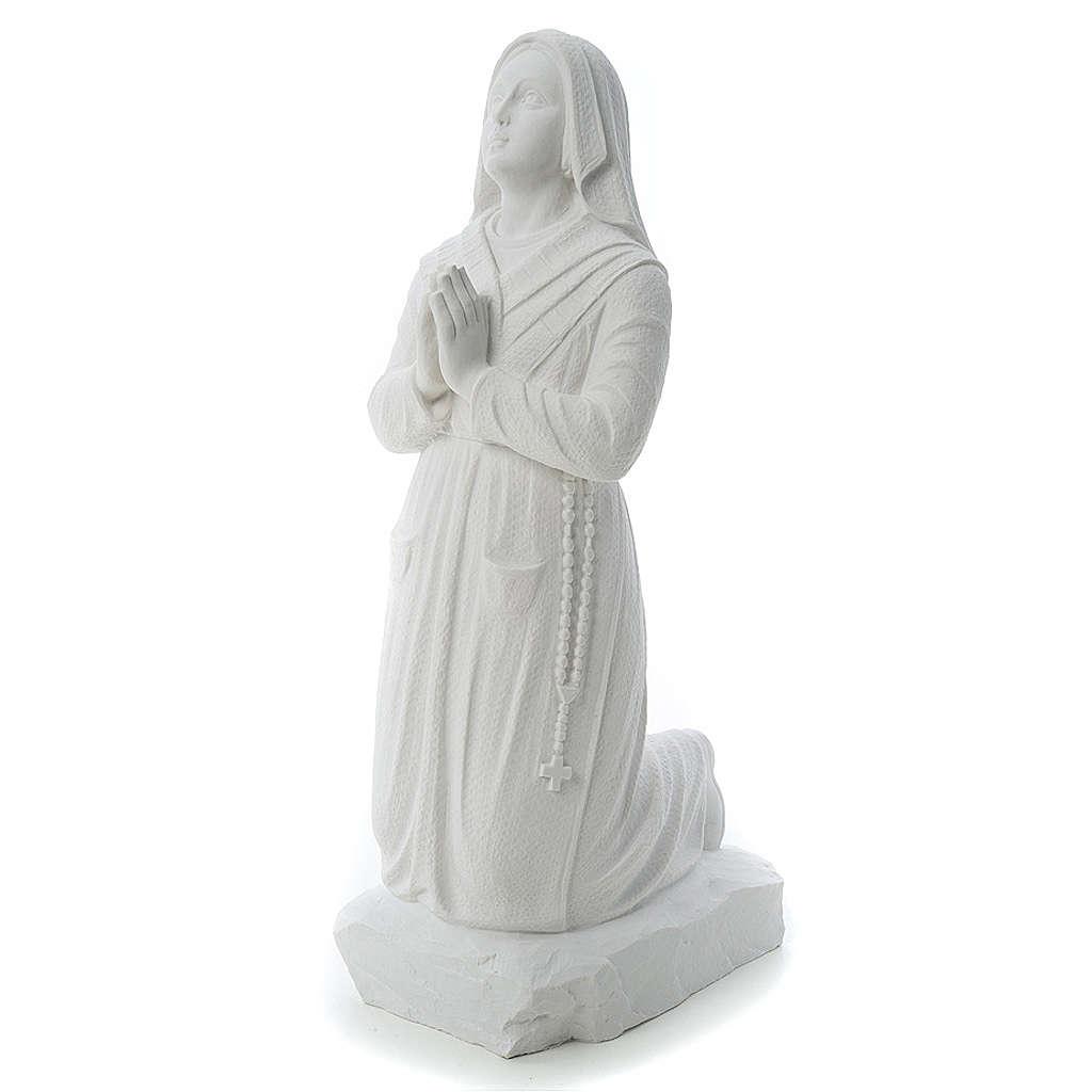 Statua Santa Bernadette  50 cm marmo sintetico 4