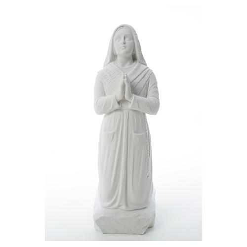 Statua Santa Bernadette  50 cm marmo sintetico 5