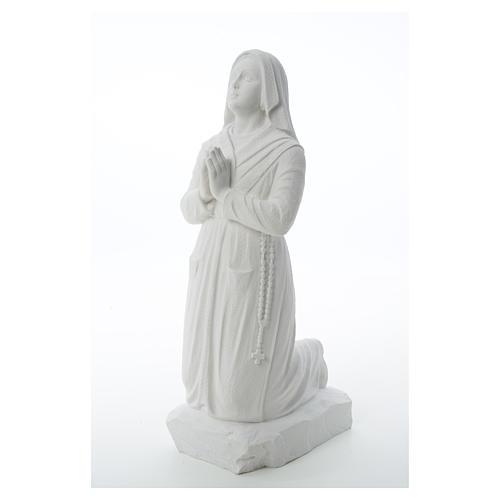 Statua Santa Bernadette  50 cm marmo sintetico 6