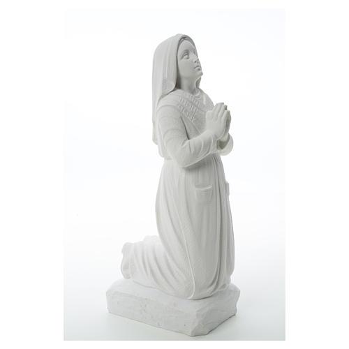 Statua Santa Bernadette  50 cm marmo sintetico 8