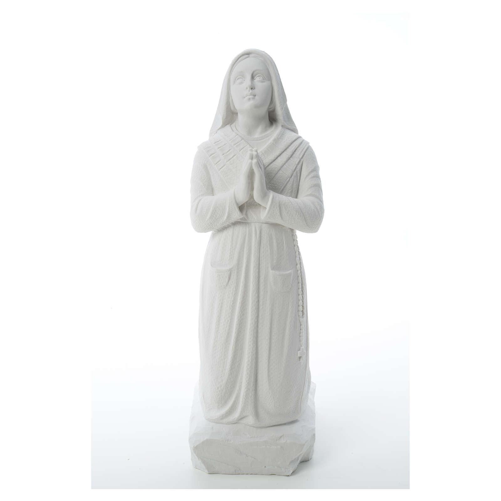 Saint Bernadette, 50 cm statue in reconstituted carrara marble 4