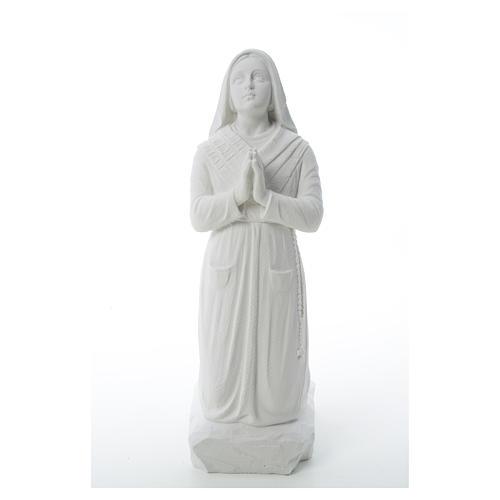 Saint Bernadette, 50 cm statue in reconstituted carrara marble 6
