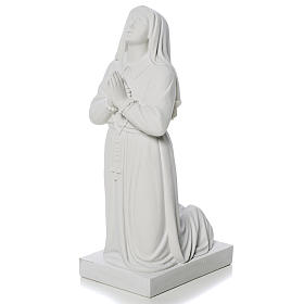 Saint Bernadette, 35 cm statue made of reconstituted marble s3