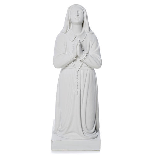Saint Bernadette, 35 cm statue made of reconstituted marble 2