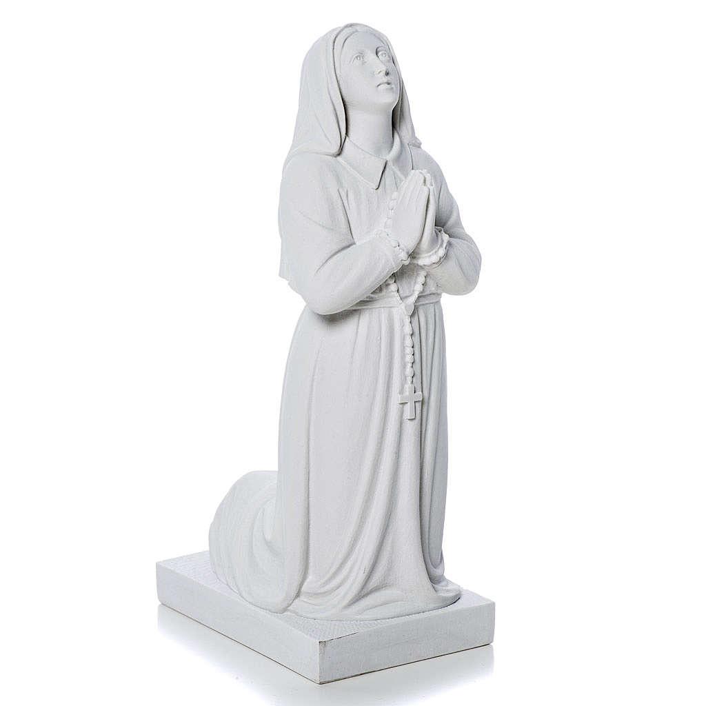 Estatua de Santa Bernadette 35cm mármol sintético 3
