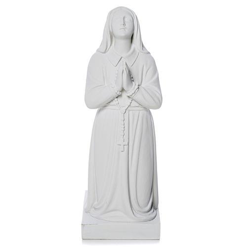 Sainte Bernadette poudre de marbre 35 cm 2