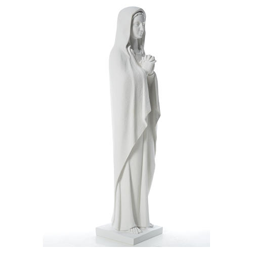 Our Lady stylized statue in reconstituted carrara marble, 80 cm 8