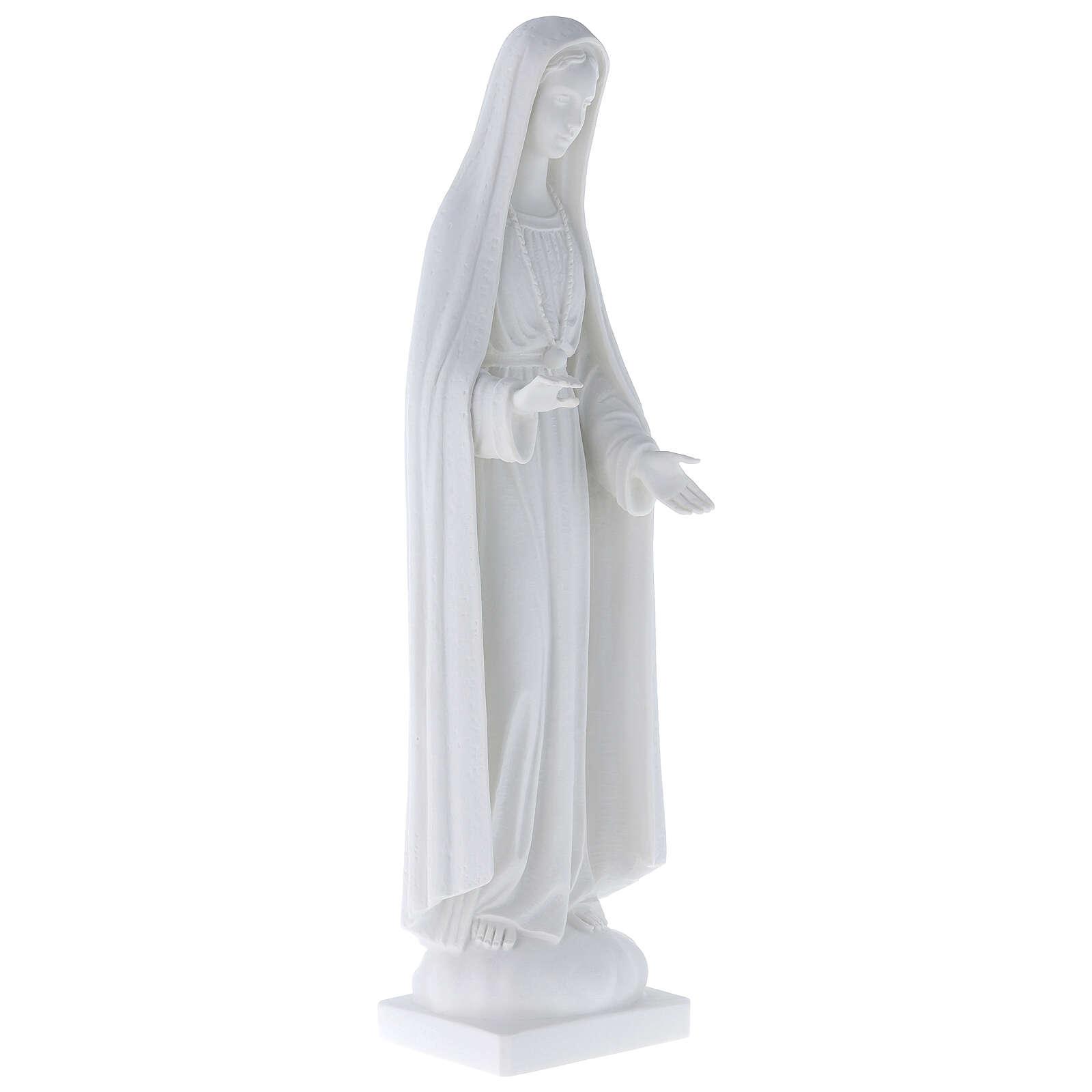 Statua Madonna stilizzata marmo bianco 62-100 cm 4
