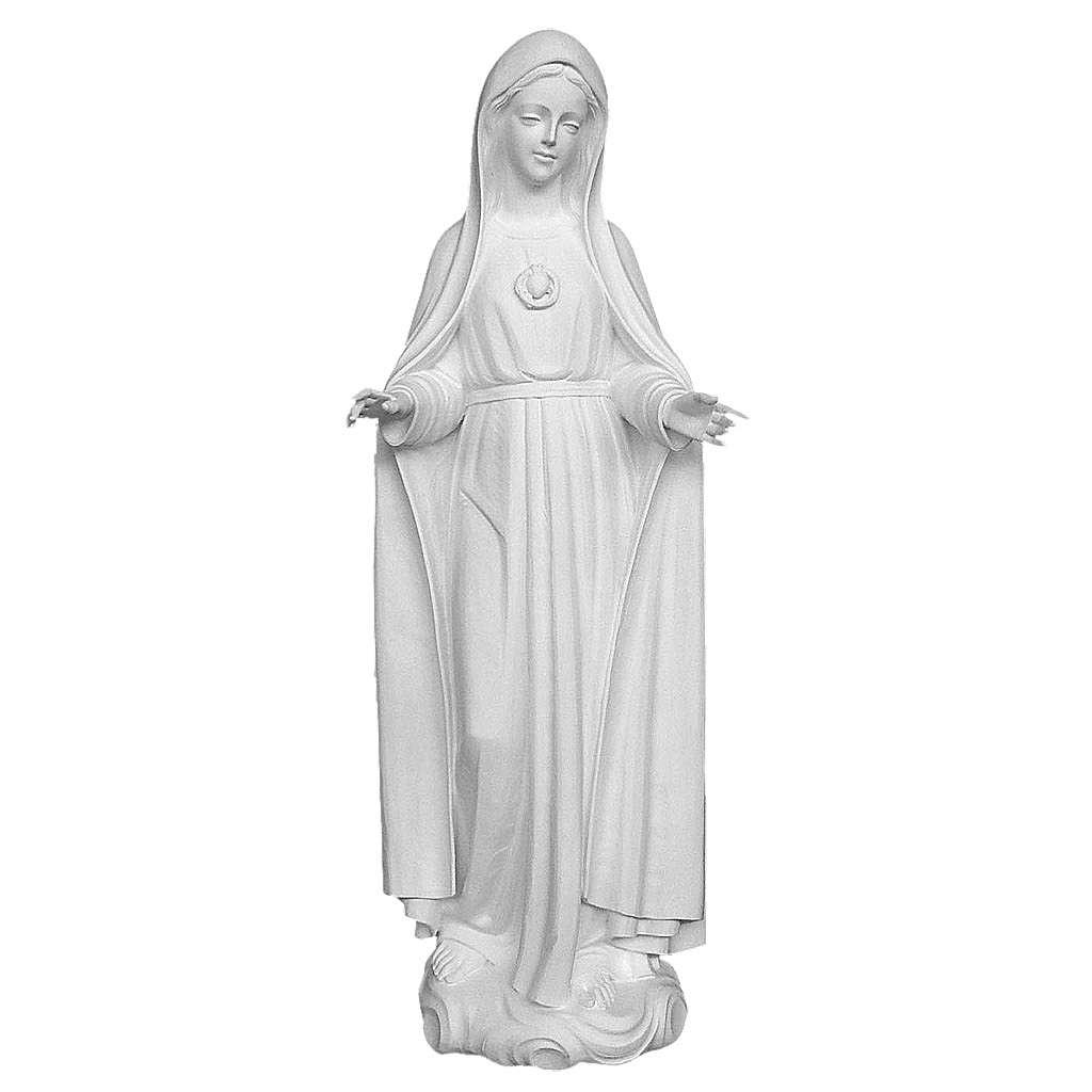 Statue Notre-Dame de Fatima 120 cm fibre de verre blanche 4
