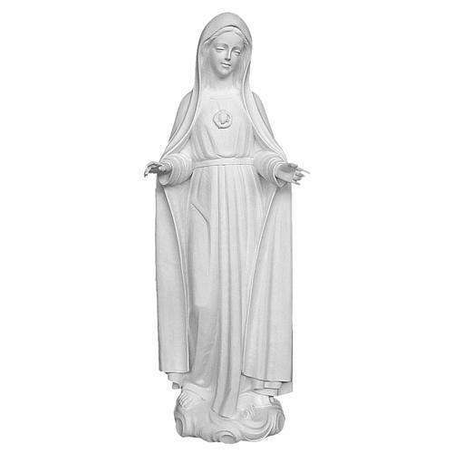Statue Notre-Dame de Fatima 120 cm fibre de verre blanche 1