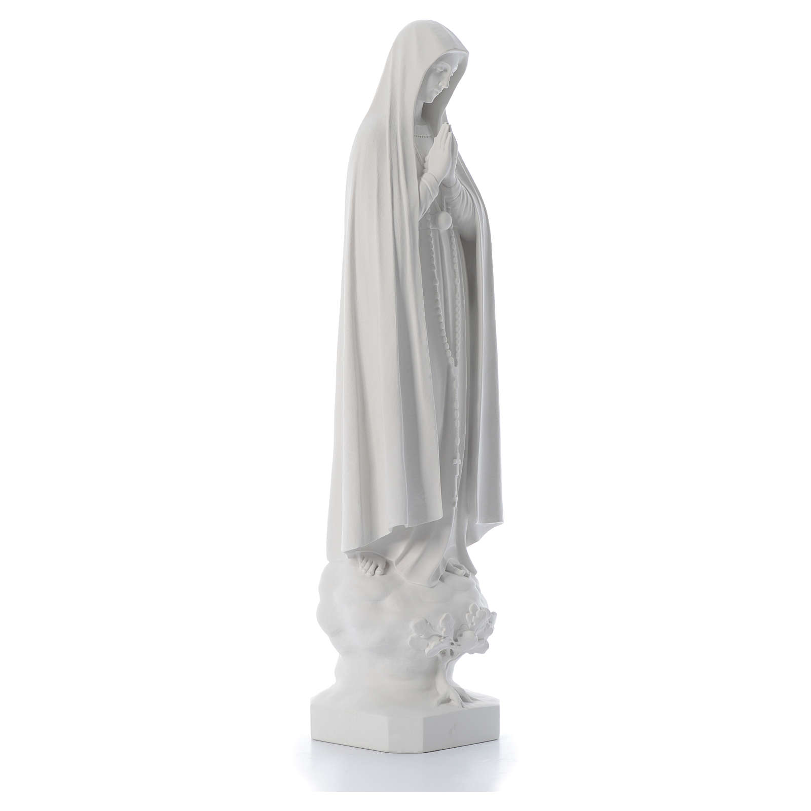 Our Lady of Fatima with tree in reconstituted marble, 100 cm 4