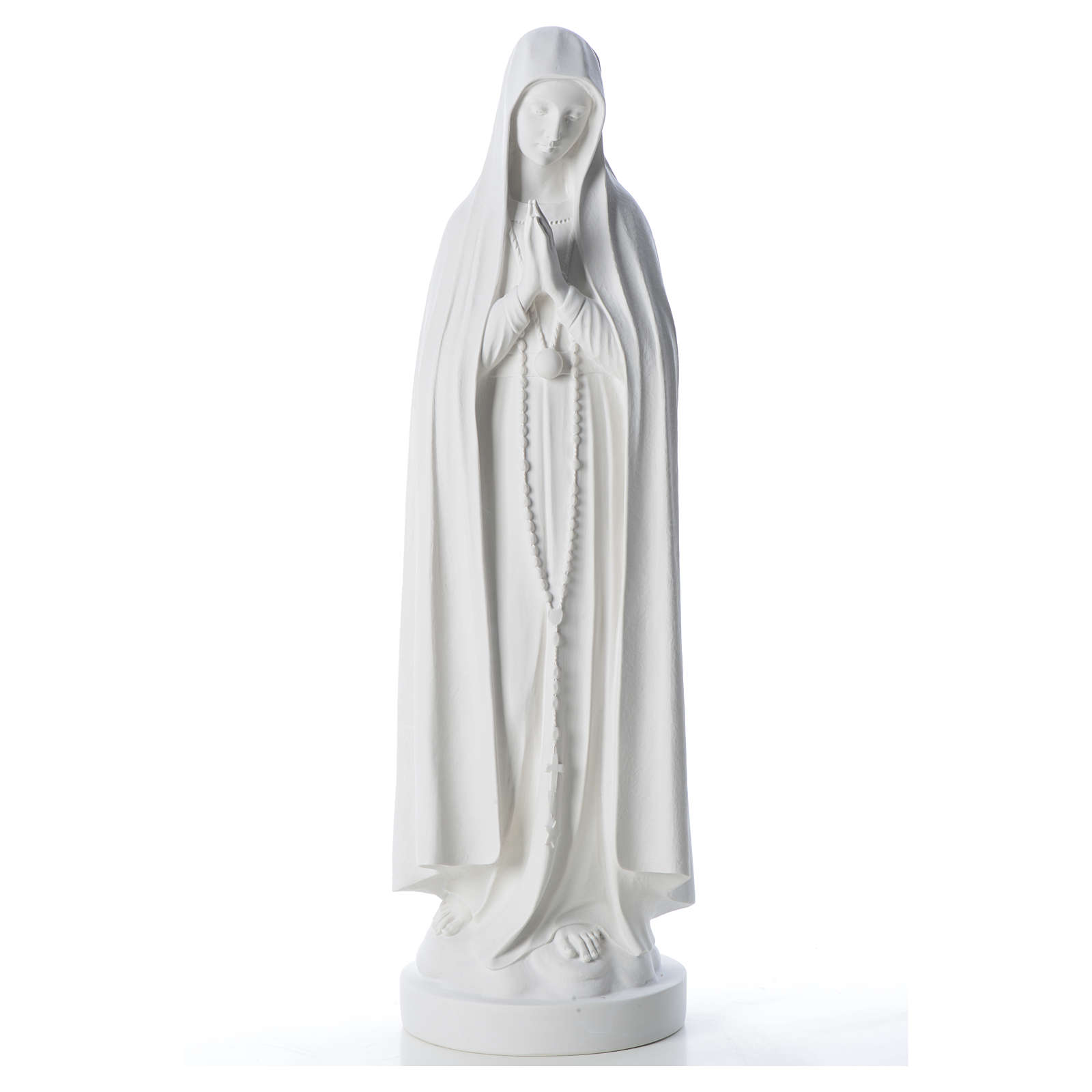 Estatua Virgen de Fátima 83cm de mármol sintetica 4