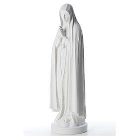 Estatua Virgen de Fátima 83cm de mármol sintetica s2