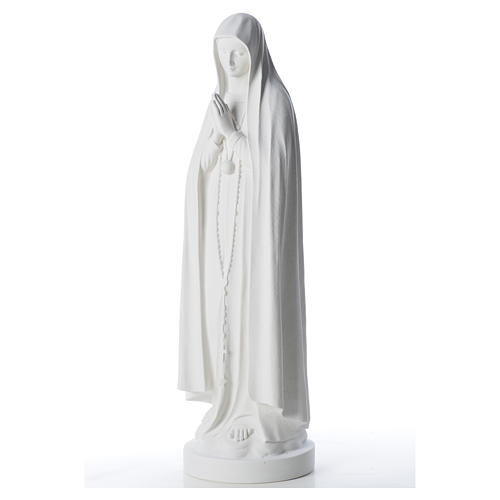 Estatua Virgen de Fátima 83cm de mármol sintetica 6