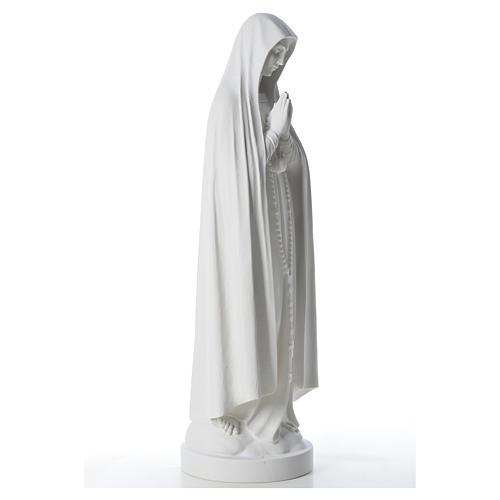 Estatua Virgen de Fátima 83cm de mármol sintetica 8