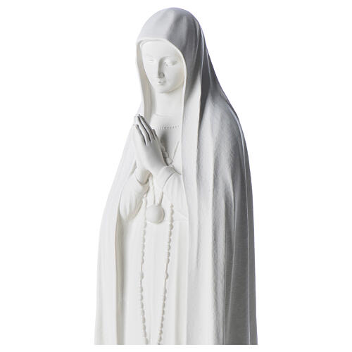Estatua Virgen de Fátima 83cm de mármol sintetica