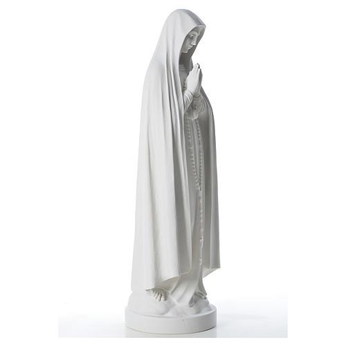Statue Notre Dame de Fatima marbre 83 cm 4