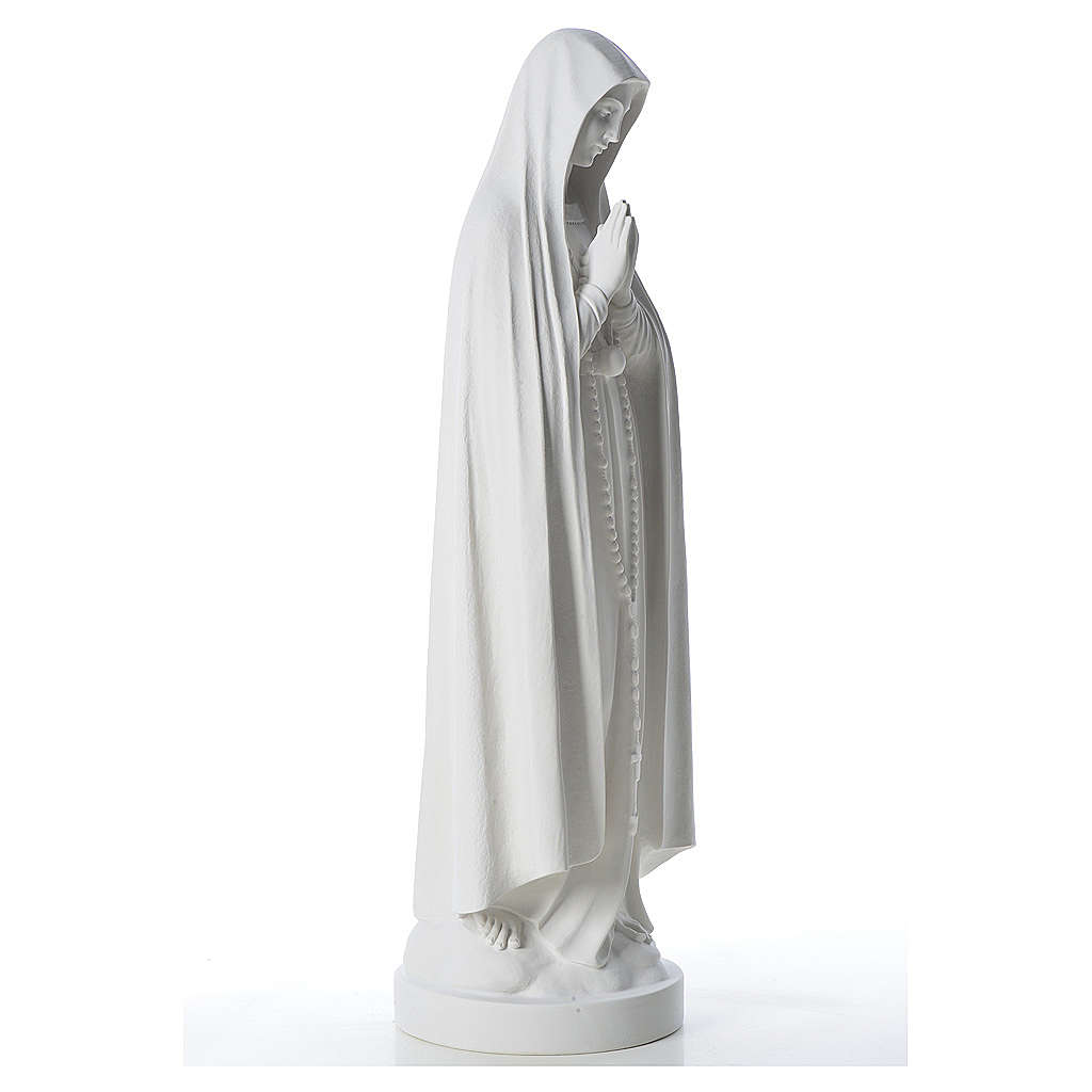 Our Lady of Fatima Statue in reconstituted marble, 83 cm 4