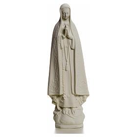 Virgen de Fátima 25cm de mármol sintético s4