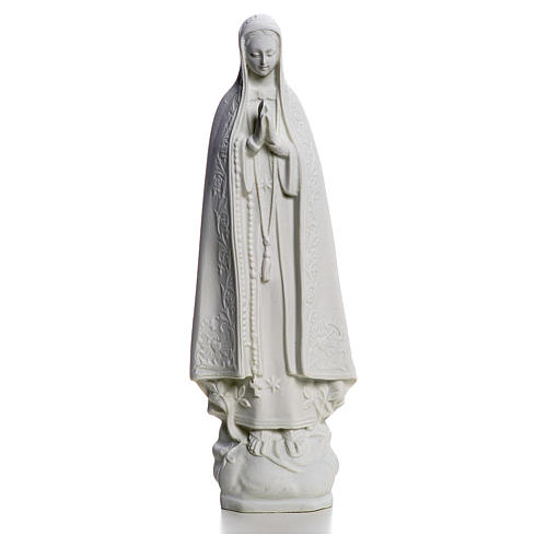 Virgen de Fátima 25cm de mármol sintético 1