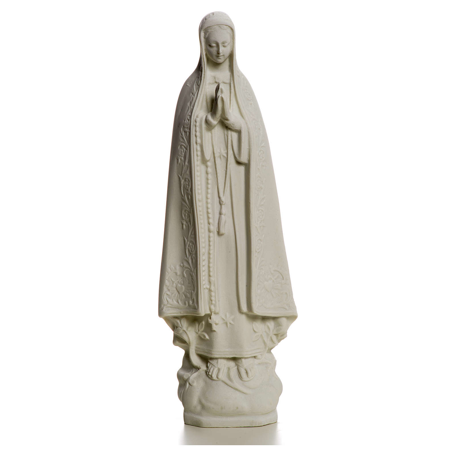Notre Dame de Fatima marbre blanc 25 cm 4