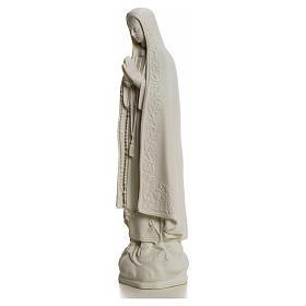 Notre Dame de Fatima marbre blanc 25 cm s5