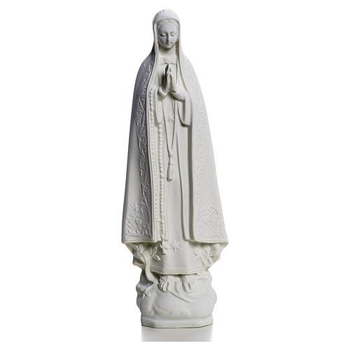 Notre Dame de Fatima marbre blanc 25 cm 1