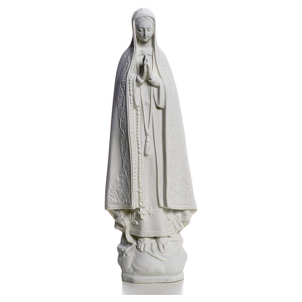 Madonna di Fatima 25 cm marmo bianco 4