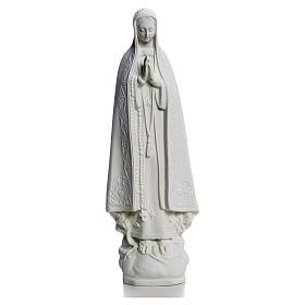 Madonna z Fatimy marmur biały 25 cm s1