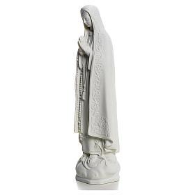 Madonna z Fatimy marmur biały 25 cm s2