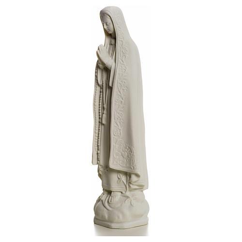 Madonna z Fatimy marmur biały 25 cm 5