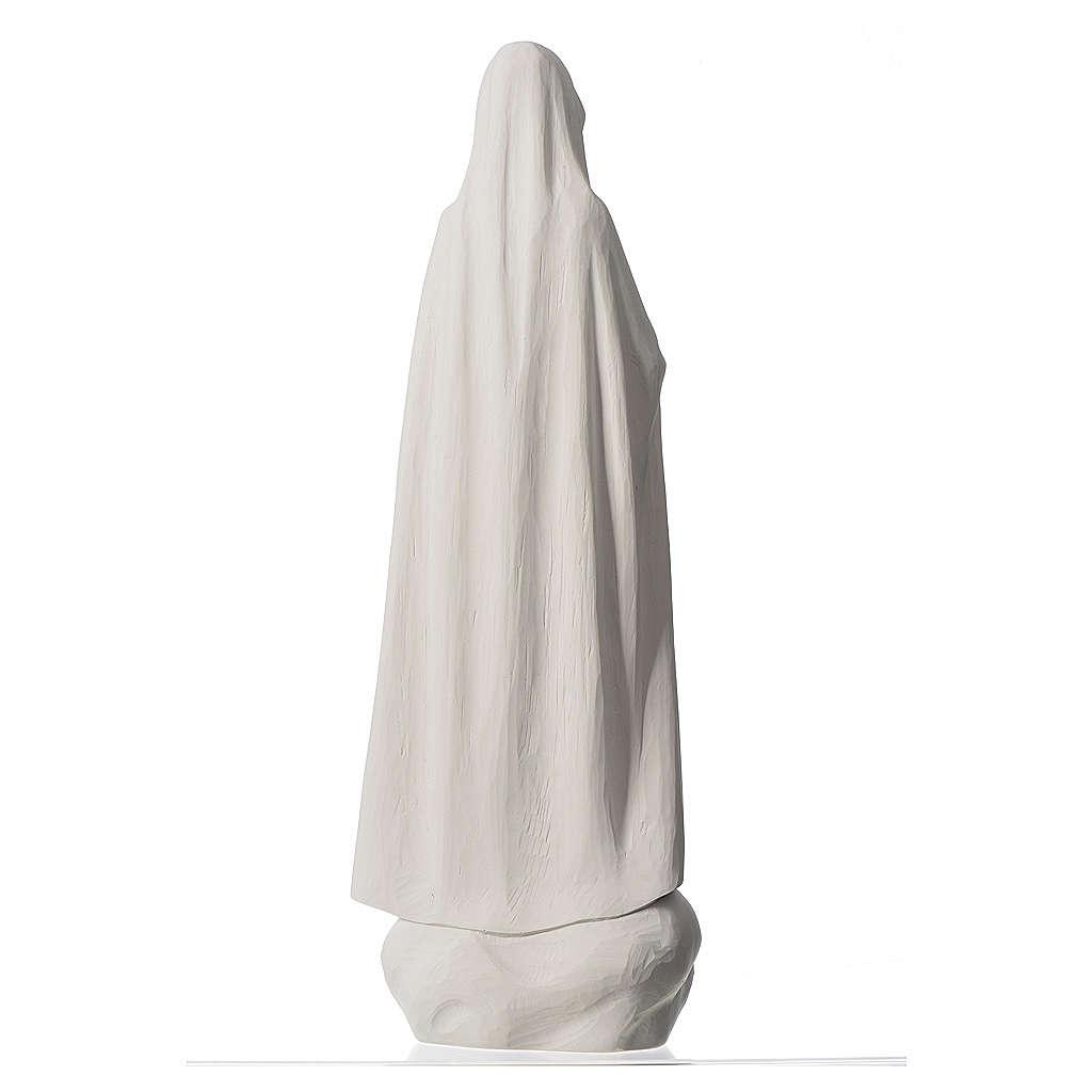 Virgen de Fátima 60 cm polvo de mármol blanco 4