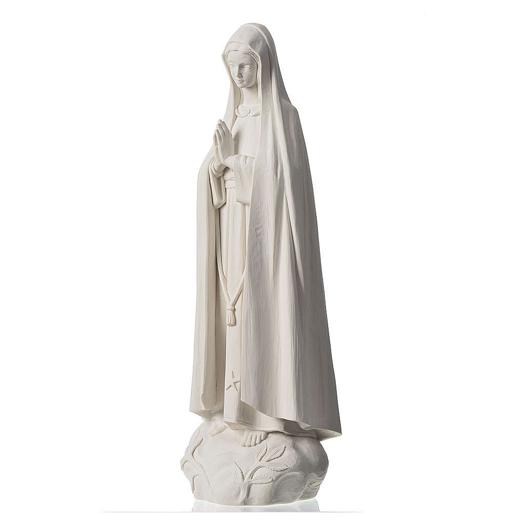 Madonna Fatima 60 cm polvere di marmo bianco 4