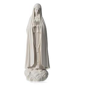 Madonna Fatima 60 cm polvere di marmo bianco s5