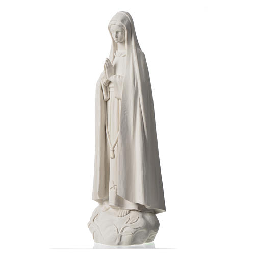 Madonna Fatima 60 cm polvere di marmo bianco 6