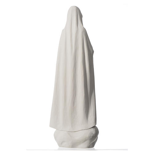 Madonna Fatima 60 cm polvere di marmo bianco 8