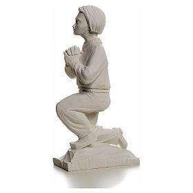 Shepherd Francis, 22 cm reconstituted carrara marble statue s6