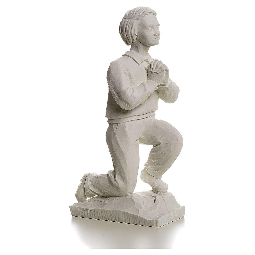 Shepherd Francis, 22 cm reconstituted carrara marble statue 4
