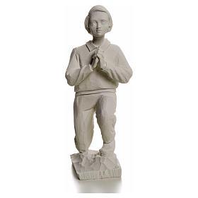 Shepherd Francis, 22 cm reconstituted carrara marble statue s4